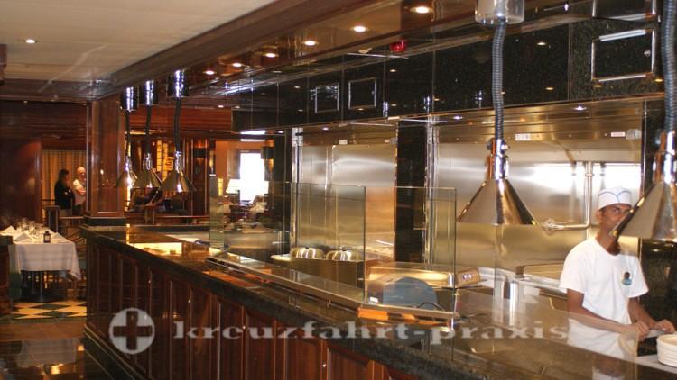 Die offene Küche des Crown Grill