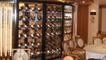 Wine rack in the Allegro restaurant