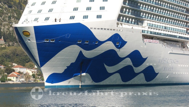 Majestic Princess - The hull painting with sea witch