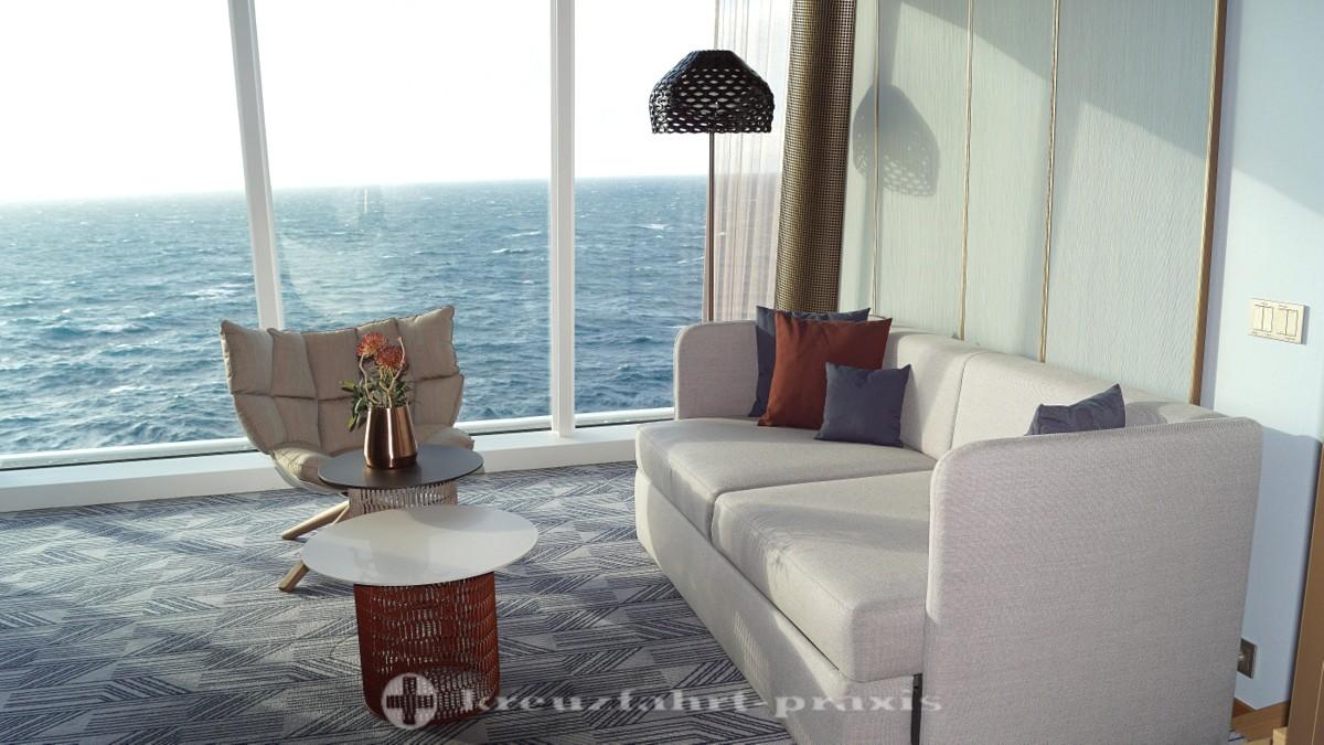 Neue Mein Schiff 2 -  die Himmel und Meer Suite