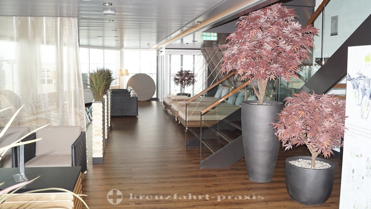 Mein Schiff 2 - relaxation area in the sauna area