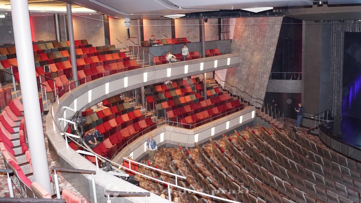 Blick ins dreistöckige Bordtheater