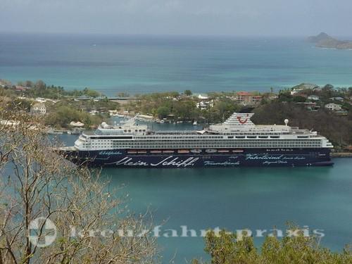 Mein Schiff - St. Lucia vor Pointe Seraphine