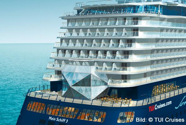 Mein Schiff 3 - Heck mit Diamant