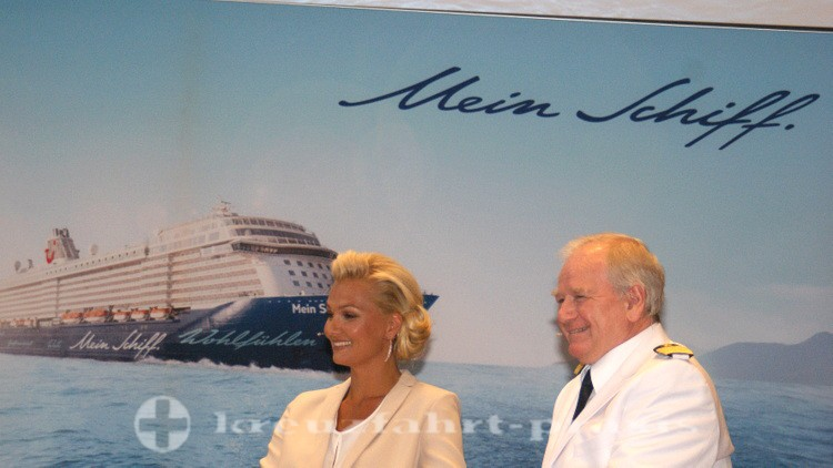 Mein Schiff 4 - Godmother Franziska van Almsick and Captain Kjell Holm