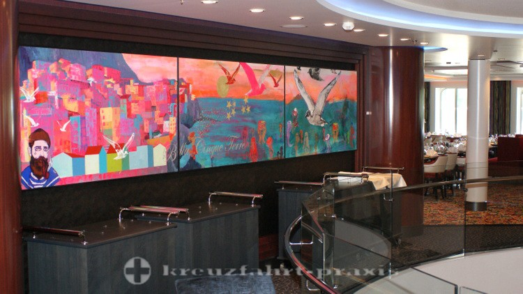 Mein Schiff 3 - Kunst im Restaurantbereich