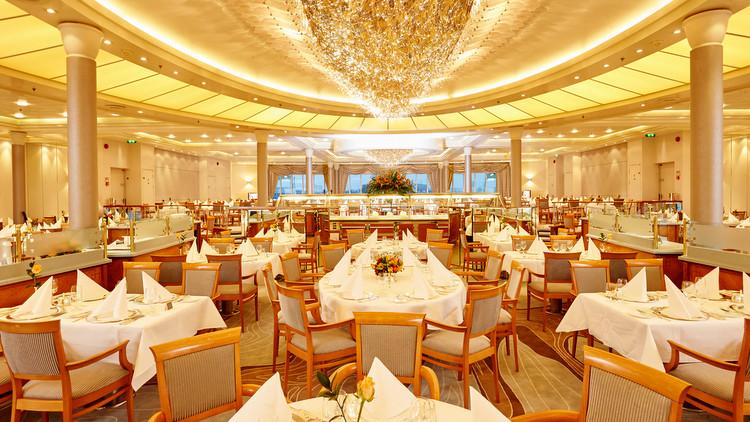 MS Europa - neugestaltetes Restaurant