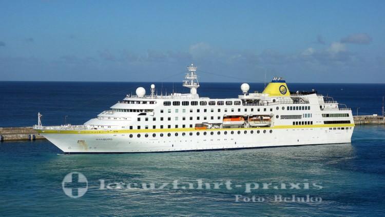 MS Hamburg vor Bridgetown/Barbados