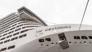 MSC Grandiosa wird in Hamburg getauft
