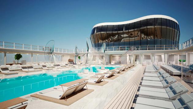 msc meraviglia pool deck