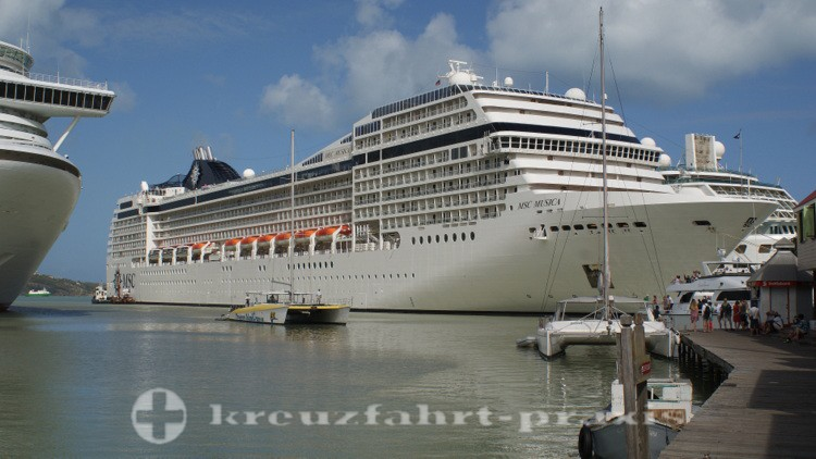 MSC Musica in St. Johns/Antigua