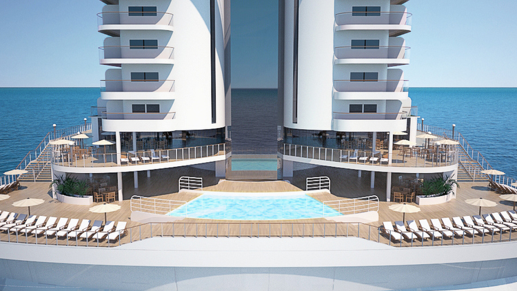 MSC Seaside - Beach Condos - Rendering