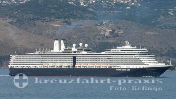 MS Nieuw Amsterdam vor Kefalonia/Griechenland