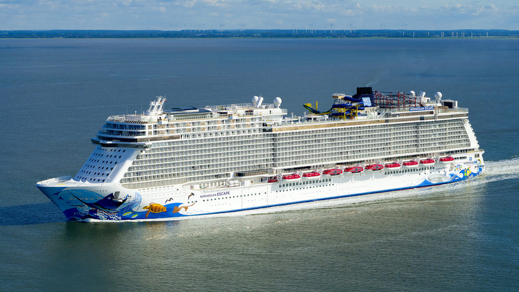 Norwegian Escape in der Nordsee