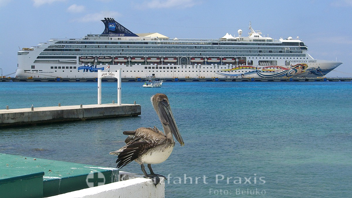 Norwegian Spirit vor Cozumel/Mexiko