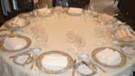 Set table in the Tuscany restaurant