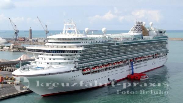 p&o cruises kreuzfahrtschiff ventura in livorno