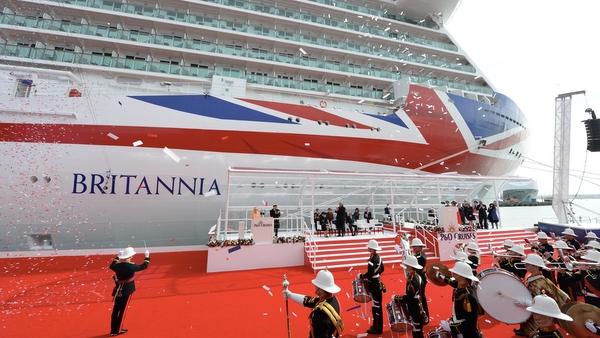 P&O Britannia - Taufakt mit der englischen Königin