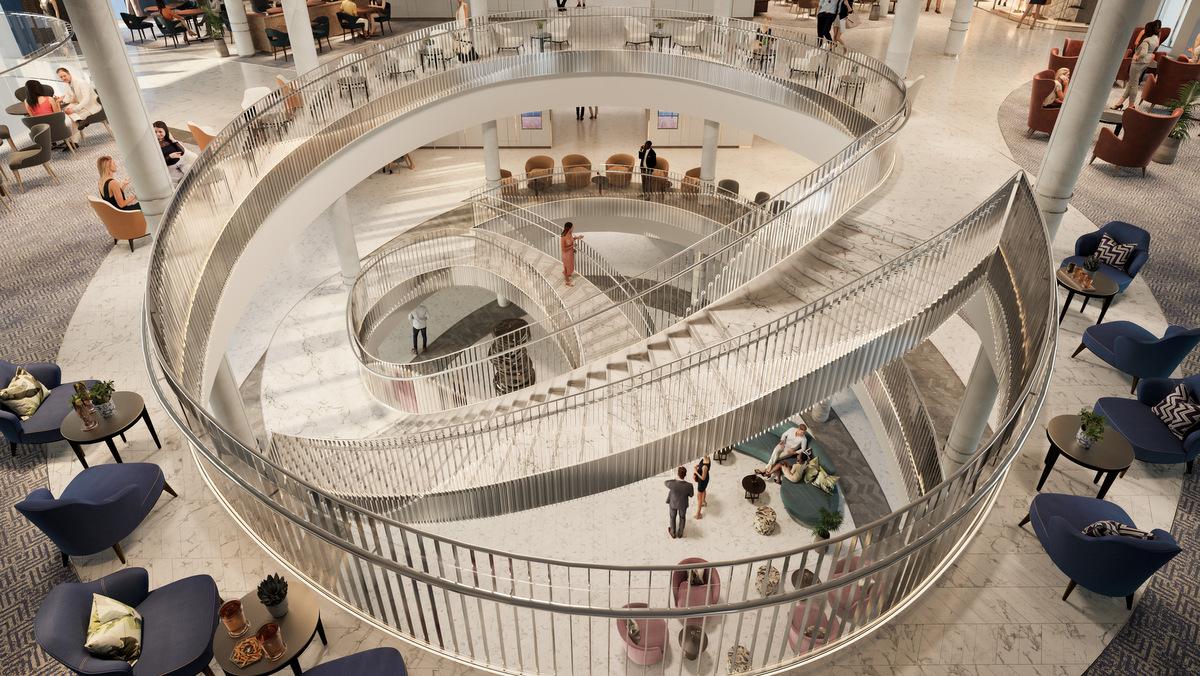 P&O IONA - Atrium - Rendering