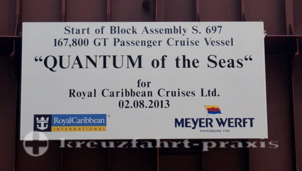 Quantum of the Seas - Mission Block Assembly