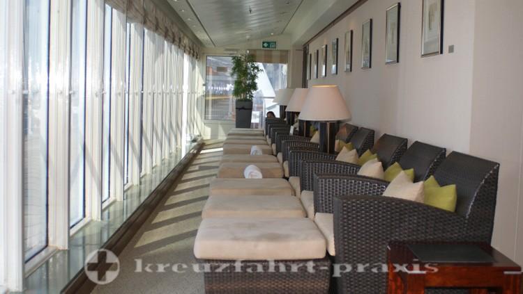 Queen Mary 2 - Ruhezone im Aqua Therapy Centre