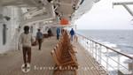 Queen Mary 2 - Rundweg an trüben Tagen