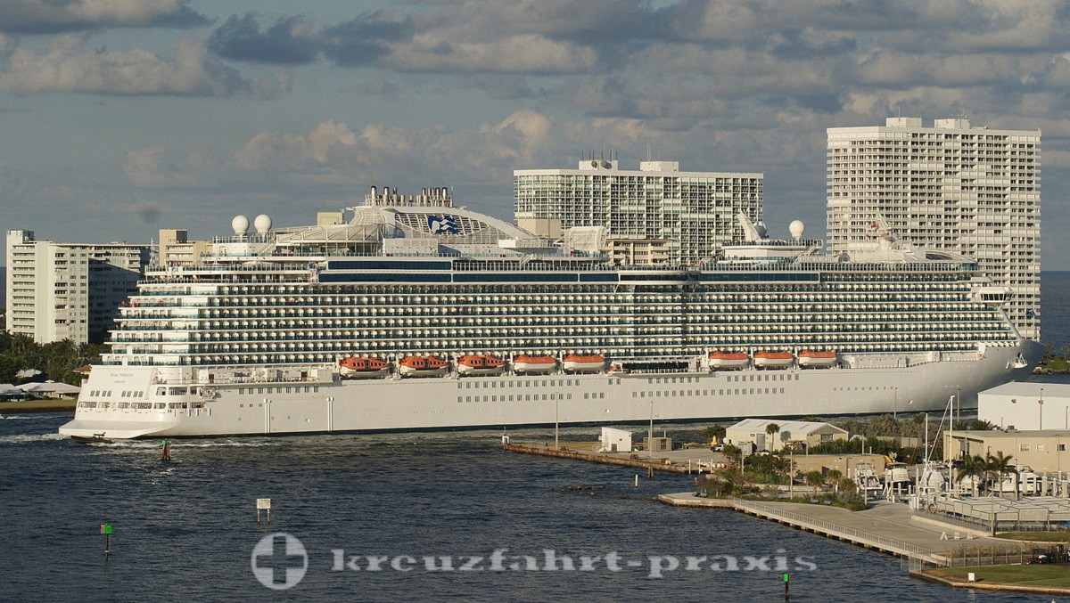 Regal Princess verlässt Fort Lauderdale/Fl.
