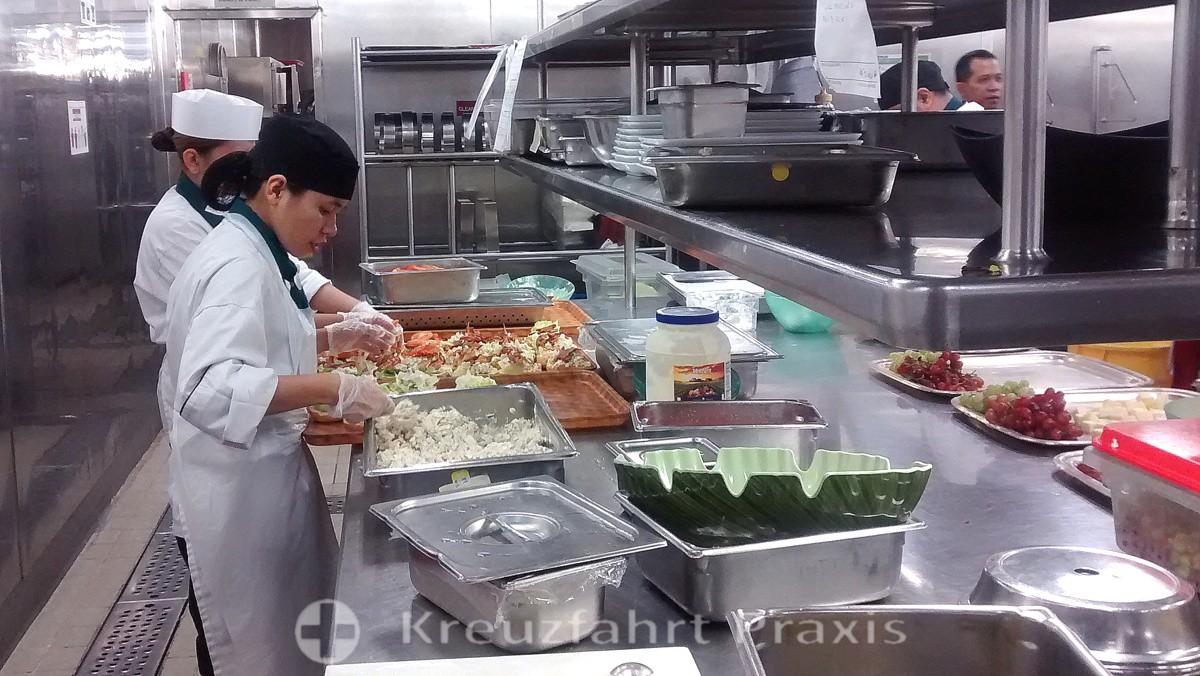 MS Rotterdam - kitchen tour
