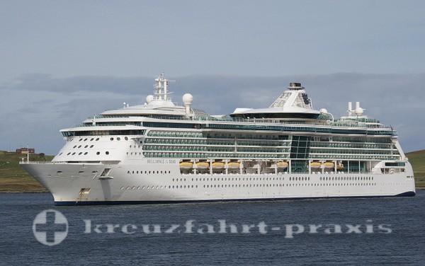 Brilliance of the Seas vor Lerwik