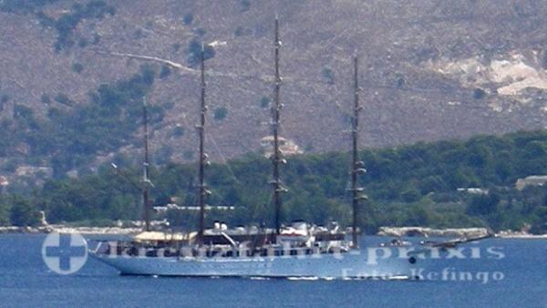 Sea Cloud vor Argostoli/Kefalonia