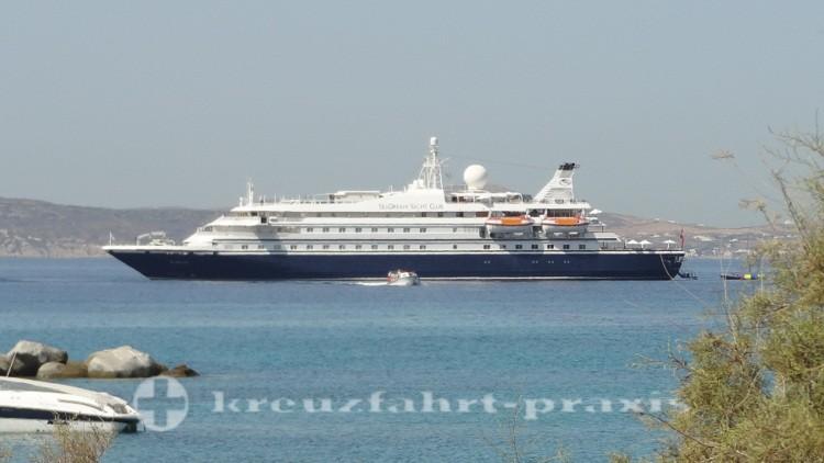 SeaDream I vor Naxos/Griechenland