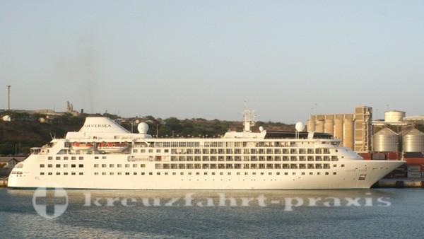 Silver Wind im Hafen von Praia/Kapverden