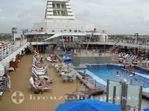 Mein Schiff 1 - Pooldeck - Nichtstun vor La Romana