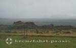 Island im Regen