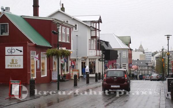 Strasse in Reykjavik