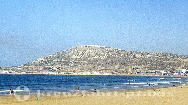 Agadir - Inschrift Gott, Vaterland, König