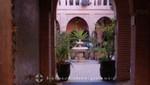 Marrakesch - Im Souk Innenhof eines Riad