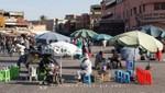 Marrakesch - Verkäuferin auf dem Platz Djemaa el Fna