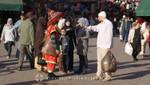 Marrakesch - Wasserverkäufer auf dem Platz Djemaa el Fna