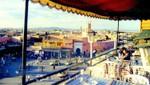 Marrakesch - Restauranterrasse über dem Platz Djemaa el Fna