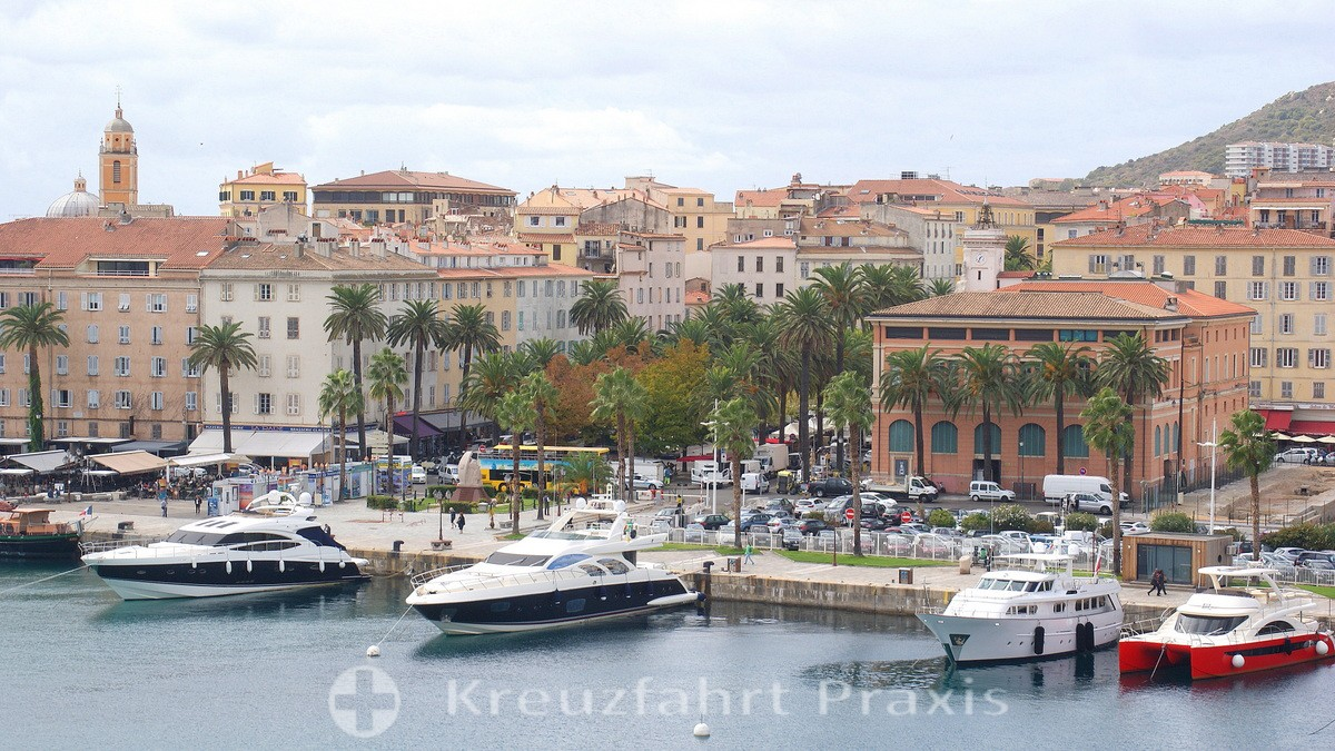 Ajaccio - the first impression - view from the cruise ship