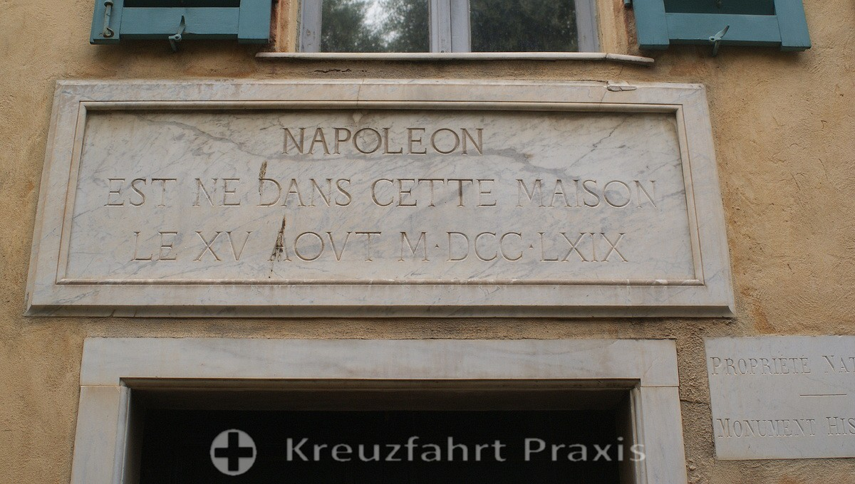 Ajaccio - Napoléon's birthplace - Memorial plaque