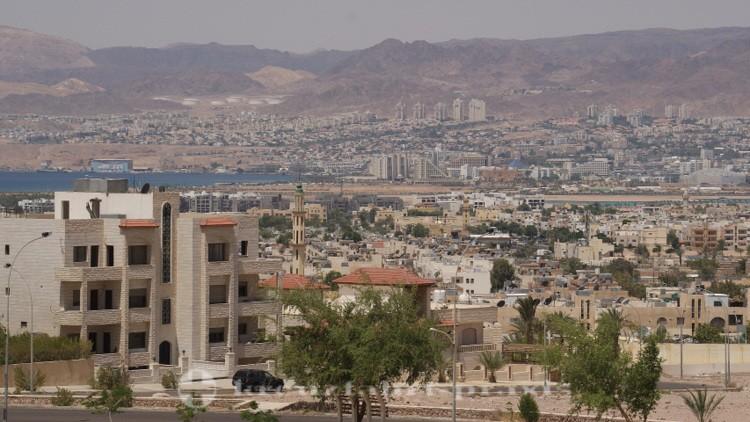 Akaba - Im Hintergrund Eilat/Israel