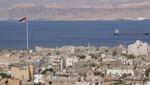 Akaba - Die Bucht von Akaba mit dem Fahnenmast