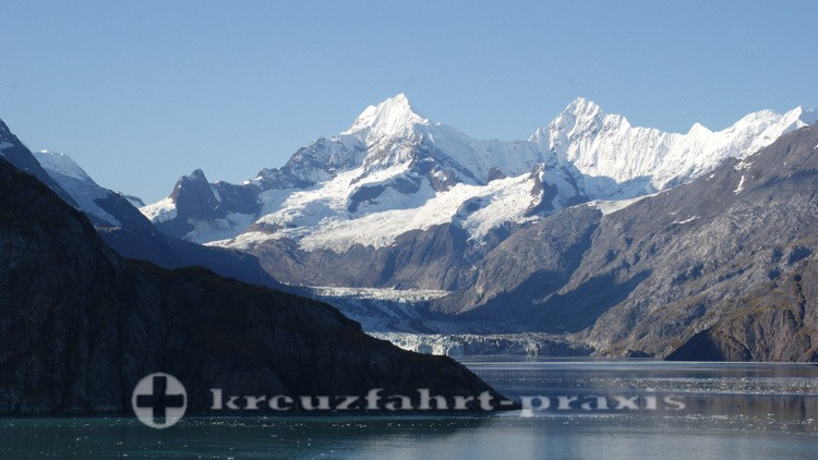 Der Johns Hopkins Gletscher kommt in Sicht
