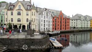 Ålesund - Hotels und Geschäftshäuser in Jugendstil-Bauweise