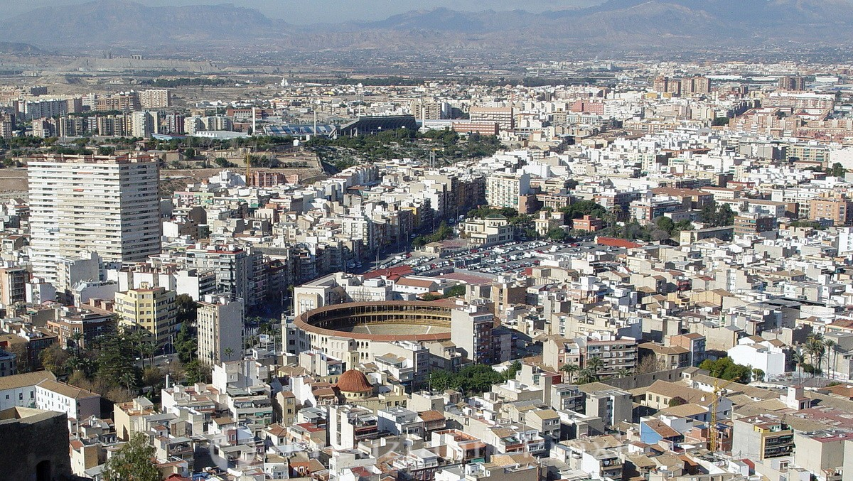 Alicante with the bullring