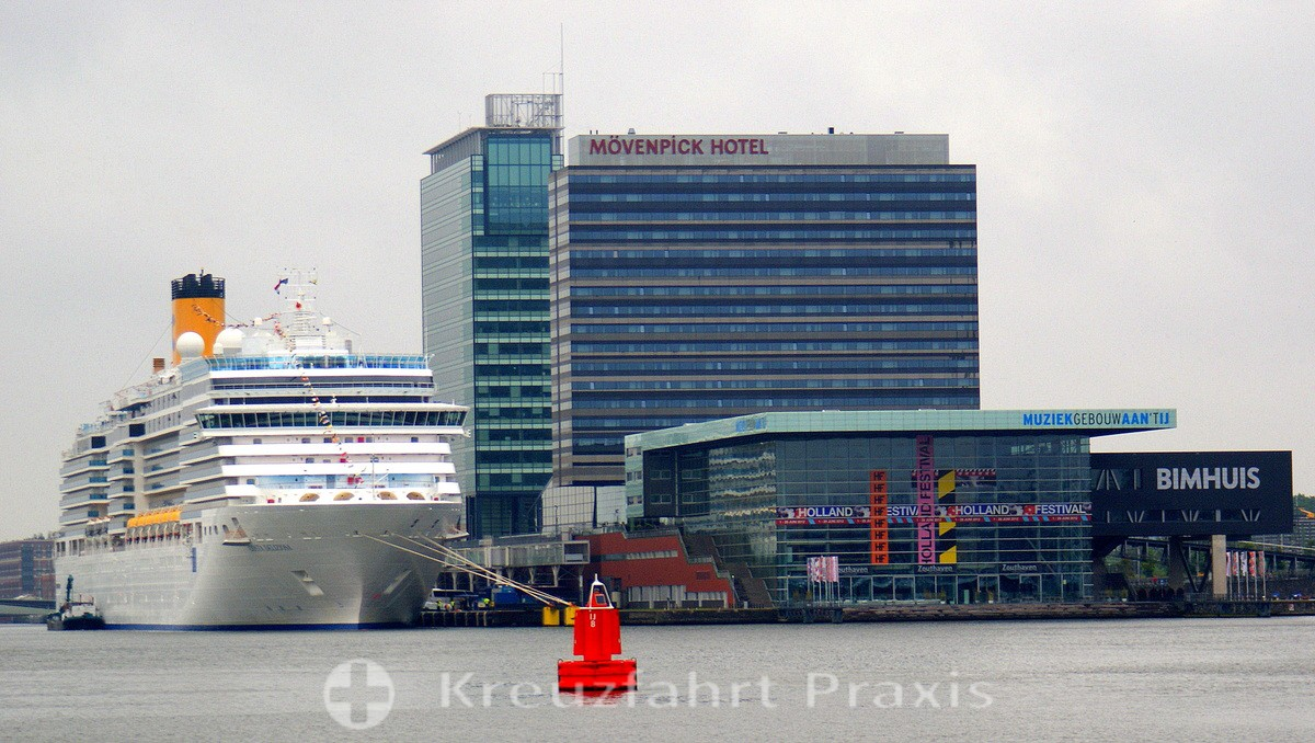 Costa Deliziosa at the cruise terminal
