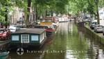 Gracht mit Hausbooten