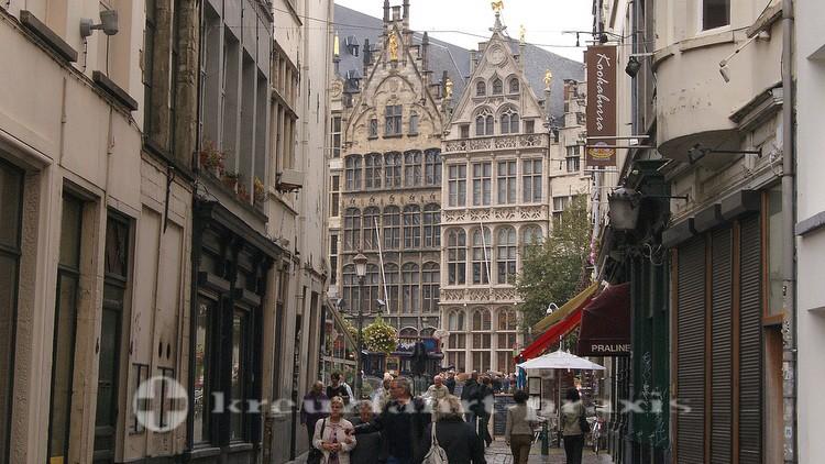 Im Zentrum von Antwerpen